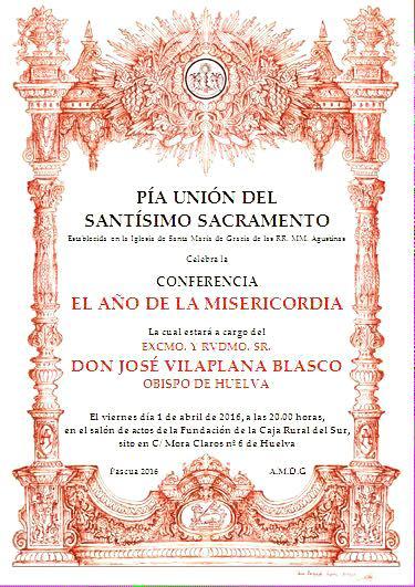 Conferencia del Sr. Obispo